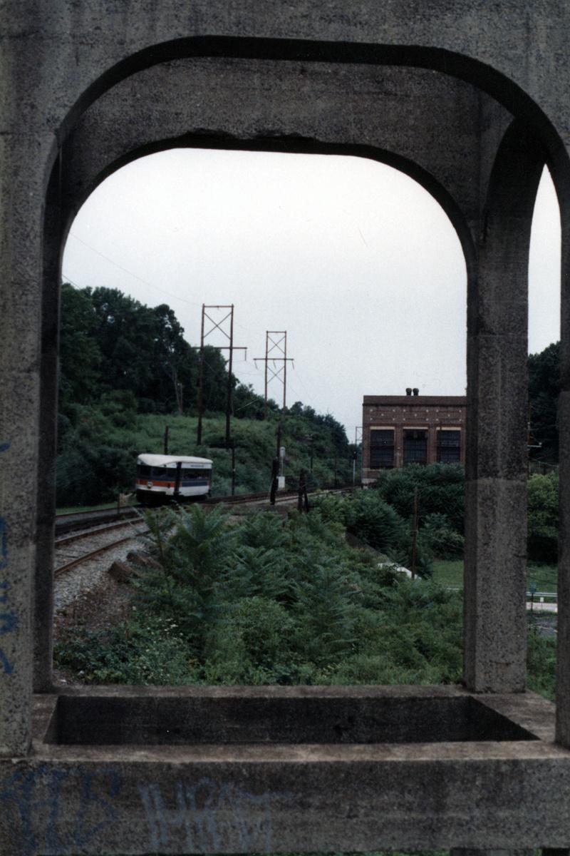 (426k, 800x1200)<br><b>Country:</b> United States<br><b>City:</b> Philadelphia, PA<br><b>System:</b> SEPTA (or Predecessor)<br><b>Line:</b> 100-Norristown<br><b>Location:</b> Norristown line-Loc. unknown.<br><b>Car:</b> PSTC/SEPTA Bullet (J.G. Brill Co., 1931-1934)  <br><b>Collection of:</b> David Pirmann<br><b>Notes:</b> Probably 1987 or 1988<br><b>Viewed (this week/total):</b> 8 / 27