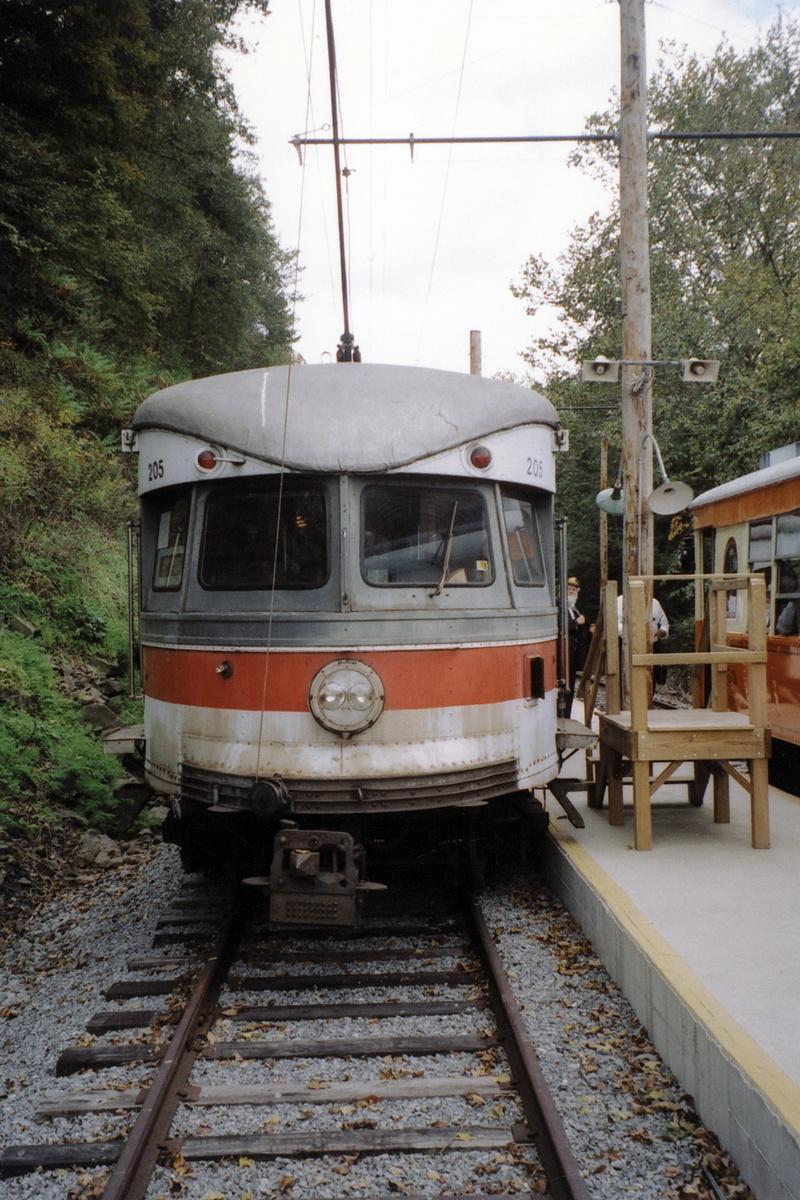 (516k, 800x1200)<br><b>Country:</b> United States<br><b>City:</b> Washington, PA<br><b>System:</b> Pennsylvania Trolley Museum<br><b>Car:</b> PSTC/SEPTA Bullet (J.G. Brill Co., 1931-1934) 205 <br><b>Collection of:</b> David Pirmann<br><b>Notes:</b> 1990 or later<br><b>Viewed (this week/total):</b> 3 / 20