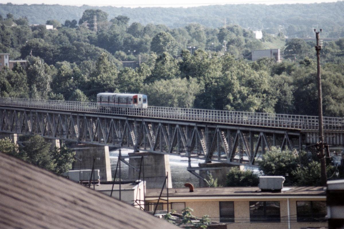 (511k, 1200x800)<br><b>Country:</b> United States<br><b>City:</b> Philadelphia, PA<br><b>System:</b> SEPTA (or Predecessor)<br><b>Line:</b> 100-Norristown<br><b>Location:</b> Norristown line-Loc. unknown.<br><b>Car:</b> SEPTA CTA (Ex-CTA 6000 Series) (St. Louis Car Co.) 6140 <br><b>Collection of:</b> David Pirmann<br><b>Date:</b> 1987<br><b>Notes:</b> Summer 1987<br><b>Viewed (this week/total):</b> 11 / 23