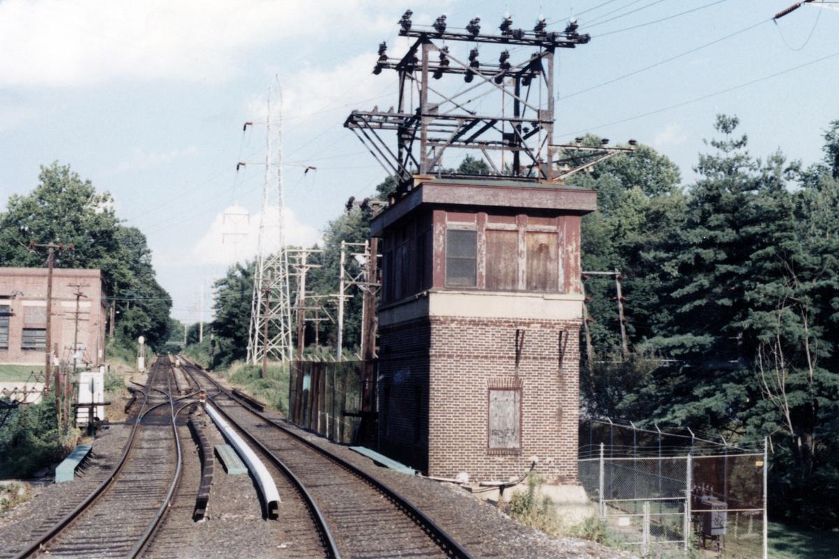 (502k, 1200x800)<br><b>Country:</b> United States<br><b>City:</b> Philadelphia, PA<br><b>System:</b> SEPTA (or Predecessor)<br><b>Line:</b> 100-Norristown<br><b>Location:</b> Villanova<br><b>Collection of:</b> David Pirmann<br><b>Date:</b> 1987<br><b>Notes:</b> Summer 1987<br><b>Viewed (this week/total):</b> 2 / 15