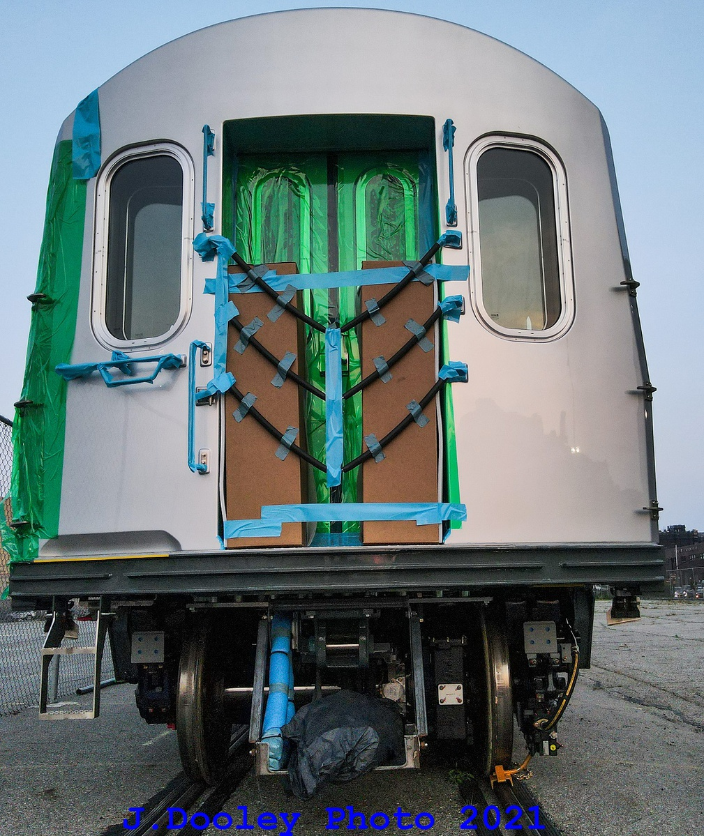 (562k, 1009x1199)<br><b>Country:</b> United States<br><b>City:</b> New York<br><b>System:</b> New York City Transit<br><b>Route:</b> Delivery<br><b>Car:</b> R-211 (Kawasaki, 2021-) 4067 <br><b>Photo by:</b> John Dooley<br><b>Date:</b> 7/15/2021<br><b>Notes:</b> Delivery at SBK yard<br><b>Viewed (this week/total):</b> 15 / 373