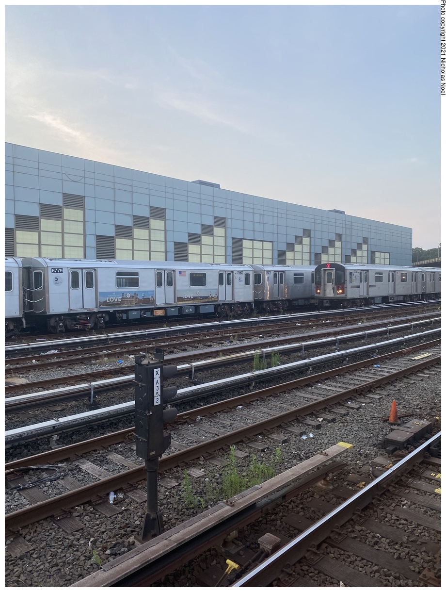 (415k, 920x1220)<br><b>Country:</b> United States<br><b>City:</b> New York<br><b>System:</b> New York City Transit<br><b>Location:</b> East 180th Street Yard<br><b>Car:</b> R-142 (Primary Order, Bombardier, 1999-2002) 6779 <br><b>Photo by:</b> Nicholas Noel<br><b>Date:</b> 7/15/2021<br><b>Viewed (this week/total):</b> 8 / 40