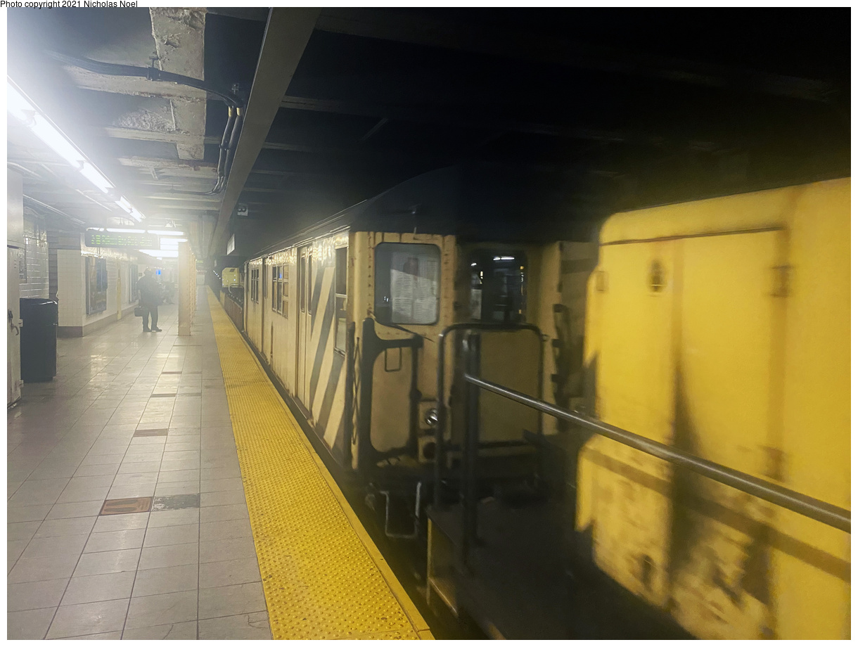(355k, 1220x920)<br><b>Country:</b> United States<br><b>City:</b> New York<br><b>System:</b> New York City Transit<br><b>Line:</b> IRT East Side Line<br><b>Location:</b> 96th Street<br><b>Route:</b> Work Service<br><b>Car:</b> R-161 Rider Car (ex-R-33) RD436 <br><b>Photo by:</b> Nicholas Noel<br><b>Date:</b> 8/6/2021<br><b>Viewed (this week/total):</b> 5 / 34