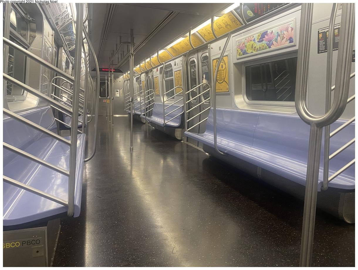 (408k, 1220x920)<br><b>Country:</b> United States<br><b>City:</b> New York<br><b>System:</b> New York City Transit<br><b>Route:</b> Q<br><b>Car:</b> R-160B (Option 2) (Kawasaki, 2009) 9888 <br><b>Photo by:</b> Nicholas Noel<br><b>Date:</b> 8/26/2021<br><b>Viewed (this week/total):</b> 6 / 38