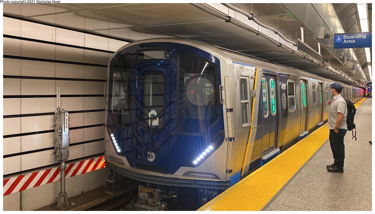 (327k, 1220x695)<br><b>Country:</b> United States<br><b>City:</b> New York<br><b>System:</b> New York City Transit<br><b>Line:</b> 2nd Avenue Subway<br><b>Location:</b> 96th Street<br><b>Route:</b> Testing<br><b>Car:</b> R-211 (Kawasaki, 2021-) 4060 <br><b>Photo by:</b> Nicholas Noel<br><b>Date:</b> 9/29/2021<br><b>Viewed (this week/total):</b> 16 / 93