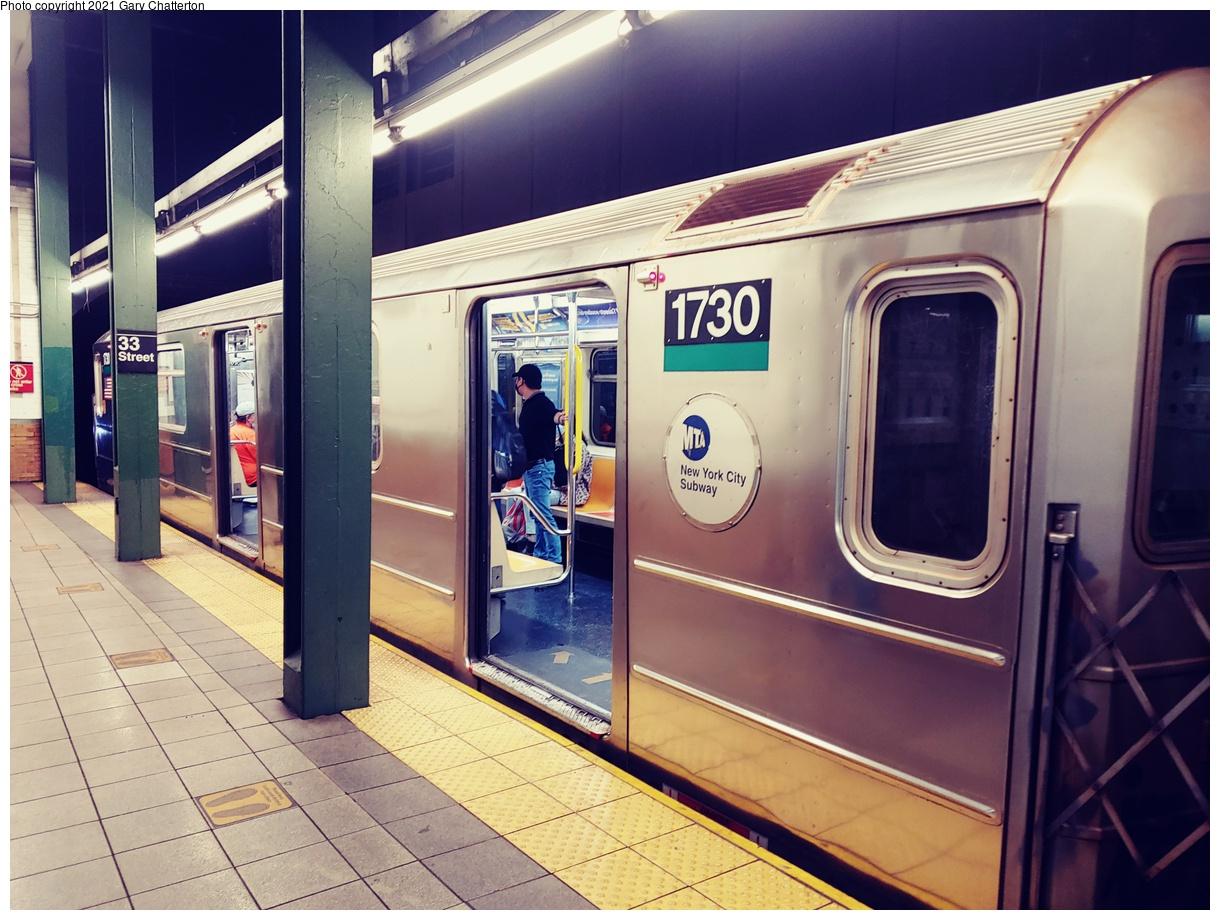 (1093k, 1220x920)<br><b>Country:</b> United States<br><b>City:</b> New York<br><b>System:</b> New York City Transit<br><b>Line:</b> IRT East Side Line<br><b>Location:</b> Brooklyn Bridge/City Hall<br><b>Route:</b> 6<br><b>Car:</b> R-62A (Bombardier, 1984-1987) 1730 <br><b>Photo by:</b> Gary Chatterton<br><b>Date:</b> 9/16/2021<br><b>Viewed (this week/total):</b> 4 / 40