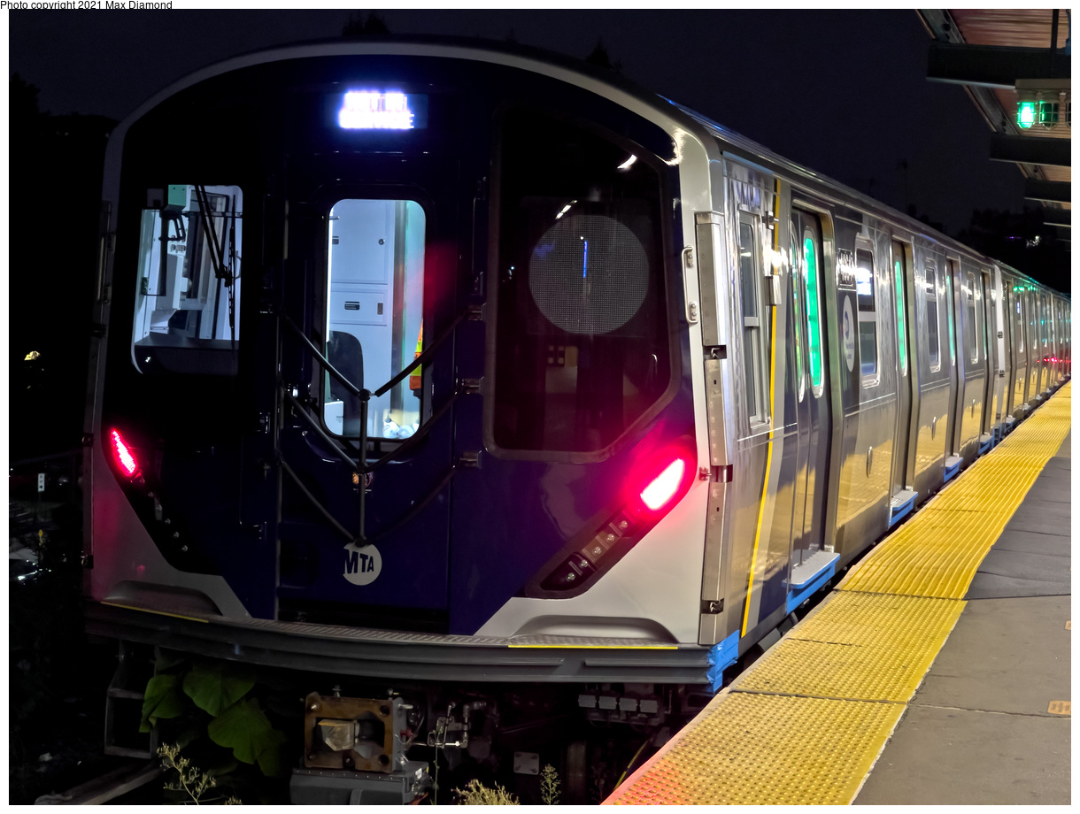 (402k, 1220x920)<br><b>Country:</b> United States<br><b>City:</b> New York<br><b>System:</b> New York City Transit<br><b>Line:</b> BMT Franklin Shuttle<br><b>Location:</b> Franklin Avenue<br><b>Route:</b> Testing<br><b>Car:</b> R-211 (Kawasaki, 2021-) 4064 <br><b>Photo by:</b> Max Diamond<br><b>Date:</b> 9/17/2021<br><b>Viewed (this week/total):</b> 7 / 55
