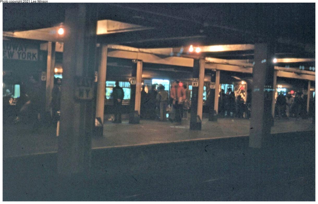 (312k, 1220x783)<br><b>Country:</b> United States<br><b>City:</b> New York<br><b>System:</b> New York City Transit<br><b>Line:</b> IND Fulton Street Line<br><b>Location:</b> Broadway-East New York (Broadway Junction)<br><b>Photo by:</b> Lee Winson<br><b>Date:</b> 1/1979<br><b>Viewed (this week/total):</b> 40 / 276