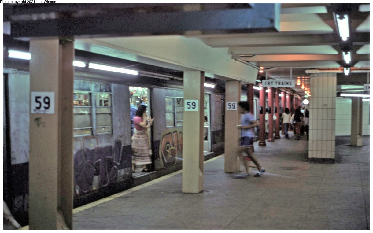 (279k, 1220x762)<br><b>Country:</b> United States<br><b>City:</b> New York<br><b>System:</b> New York City Transit<br><b>Line:</b> IRT West Side Line<br><b>Location:</b> 59th Street/Columbus Circle<br><b>Route:</b> 1<br><b>Photo by:</b> Lee Winson<br><b>Viewed (this week/total):</b> 36 / 241