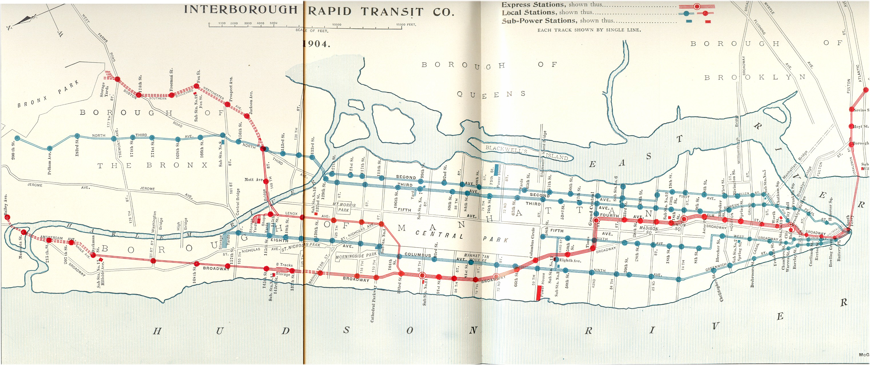 (1080k, 3042x1277)<br><b>Country:</b> United States<br><b>City:</b> New York<br><b>System:</b> New York City Transit<br><b>Location:</b> Interborough Subway<br><b>Photo by:</b> IRT Company<br><b>Date:</b> 1904<br><b>Notes:</b> IRT Subway: Interborough Rapid Transit Subway and Elevated Lines (<I>The New York Subway, Its Construction and Equipment</i>, 1904)<br><b>Viewed (this week/total):</b> 48 / 59654