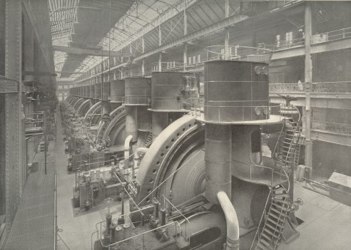 (52k, 492x351)<br><b>Country:</b> United States<br><b>City:</b> New York<br><b>System:</b> New York City Transit<br><b>Location:</b> Interborough Subway<br><b>Photo by:</b> IRT Company<br><b>Notes:</b> Operating Room of Power House<br><b>Viewed (this week/total):</b> 2 / 11487