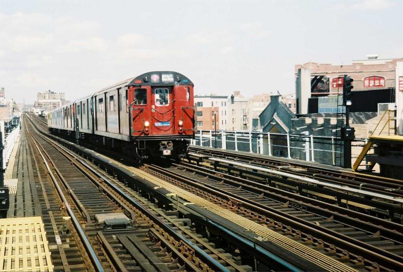 (87k, 800x540)<br><b>Country:</b> United States<br><b>City:</b> New York<br><b>System:</b> New York City Transit<br><b>Line:</b> IRT White Plains Road Line<br><b>Location:</b> Prospect Avenue<br><b>Route:</b> Fan Trip<br><b>Car:</b> R-33 World's Fair (St. Louis, 1963-64) 9327 <br><b>Photo by:</b> Gary Chatterton<br><b>Date:</b> 5/1/2005<br><b>Viewed (this week/total):</b> 1 / 4215