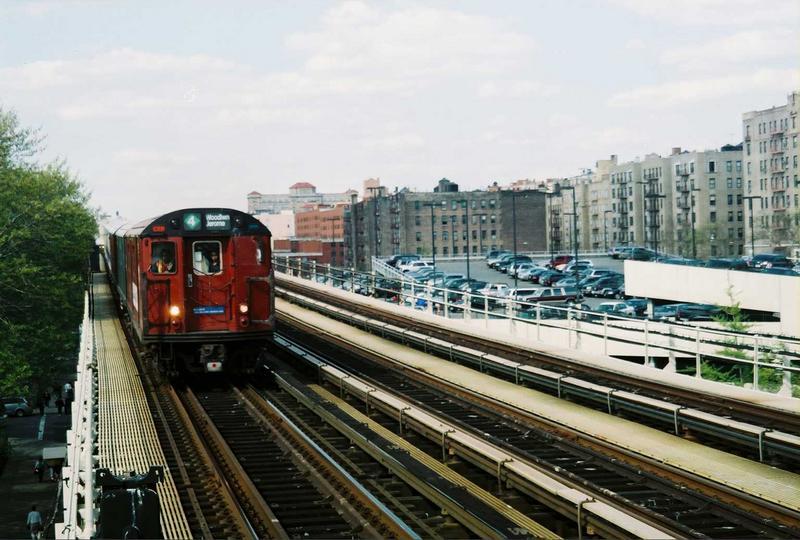 (78k, 800x540)<br><b>Country:</b> United States<br><b>City:</b> New York<br><b>System:</b> New York City Transit<br><b>Line:</b> IRT Woodlawn Line<br><b>Location:</b> 161st Street-River Avenue (Yankee Stadium)<br><b>Route:</b> Fan Trip<br><b>Car:</b> R-33 World's Fair (St. Louis, 1963-64) 9327 <br><b>Photo by:</b> Gary Chatterton<br><b>Date:</b> 5/1/2005<br><b>Viewed (this week/total):</b> 2 / 3855