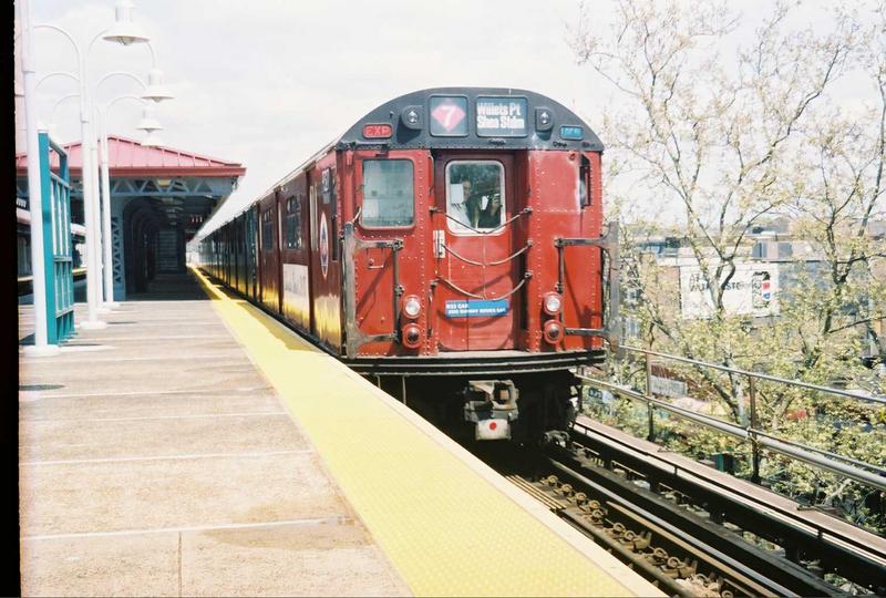 (84k, 800x540)<br><b>Country:</b> United States<br><b>City:</b> New York<br><b>System:</b> New York City Transit<br><b>Line:</b> IRT White Plains Road Line<br><b>Location:</b> Gun Hill Road<br><b>Route:</b> Fan Trip<br><b>Car:</b> R-33 World's Fair (St. Louis, 1963-64) 9327 <br><b>Photo by:</b> Gary Chatterton<br><b>Date:</b> 5/1/2005<br><b>Viewed (this week/total):</b> 2 / 3549