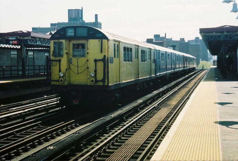 (76k, 800x540)<br><b>Country:</b> United States<br><b>City:</b> New York<br><b>System:</b> New York City Transit<br><b>Line:</b> IRT White Plains Road Line<br><b>Location:</b> Prospect Avenue<br><b>Route:</b> Fan Trip<br><b>Car:</b> R-22 (St. Louis, 1957-58) 37371 <br><b>Photo by:</b> Gary Chatterton<br><b>Date:</b> 5/1/2005<br><b>Notes:</b> Work Motor 37371 on fantrip.<br><b>Viewed (this week/total):</b> 1 / 3787