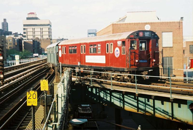 (79k, 800x540)<br><b>Country:</b> United States<br><b>City:</b> New York<br><b>System:</b> New York City Transit<br><b>Location:</b> 207th Street Yard<br><b>Route:</b> Fan Trip<br><b>Car:</b> R-33 World's Fair (St. Louis, 1963-64) 9327 <br><b>Photo by:</b> Gary Chatterton<br><b>Date:</b> 5/1/2005<br><b>Viewed (this week/total):</b> 1 / 3405