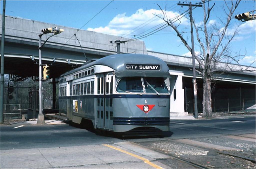 (171k, 1024x676)<br><b>Country:</b> United States<br><b>City:</b> Newark, NJ<br><b>System:</b> Newark City Subway<br><b>Line:</b> 7-City Subway<br><b>Location:</b> Orange Street<br><b>Car:</b> NJTransit/PSCT PCC (Ex-Twin City) (St. Louis Car Co., 1946-1947) 1 <br><b>Photo by:</b> Joe Testagrose<br><b>Date:</b> 4/26/1975<br><b>Viewed (this week/total):</b> 1 / 13973