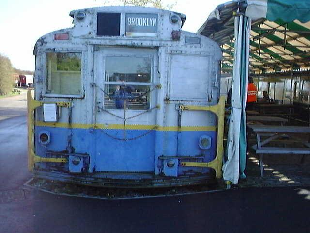 (55k, 640x480)<br><b>Country:</b> United States<br><b>City:</b> New York<br><b>System:</b> New York City Transit<br><b>Location:</b> Buckinghamshire Railway Centre<br><b>Car:</b> R-6-3 (American Car & Foundry, 1935) 1144 <br><b>Photo by:</b> Terry Walden<br><b>Collection of:</b> Phil Marsh<br><b>Date:</b> 1998<br><b>Notes:</b> Buckinghamshire Railway Centre-England. Used as a cafeteria for their museum.<br><b>Viewed (this week/total):</b> 3 / 10341
