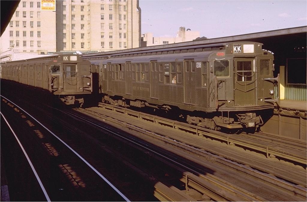 (199k, 1024x674)<br><b>Country:</b> United States<br><b>City:</b> New York<br><b>System:</b> New York City Transit<br><b>Line:</b> BMT Nassau Street-Jamaica Line<br><b>Location:</b> 160th Street (Demolished)<br><b>Route:</b> KK<br><b>Car:</b> R-6-2 (Pullman, 1936) 1208 <br><b>Photo by:</b> Doug Grotjahn<br><b>Collection of:</b> Joe Testagrose<br><b>Date:</b> 7/28/1972<br><b>Viewed (this week/total):</b> 2 / 7729