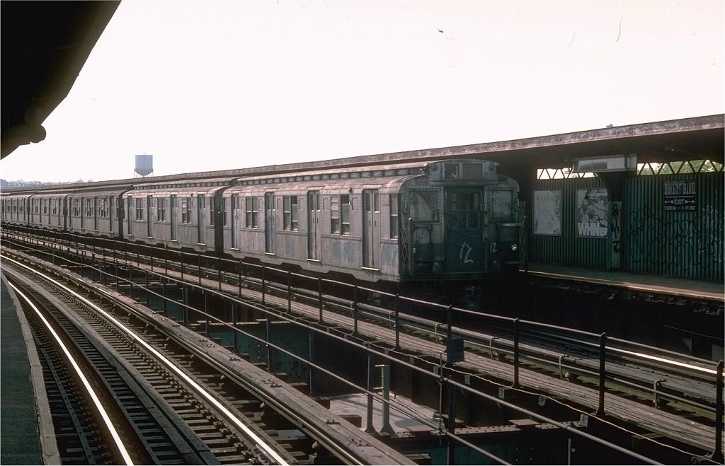 (179k, 1024x659)<br><b>Country:</b> United States<br><b>City:</b> New York<br><b>System:</b> New York City Transit<br><b>Line:</b> BMT Nassau Street-Jamaica Line<br><b>Location:</b> Queens Boulevard (Demolished)<br><b>Route:</b> J<br><b>Car:</b> R-7A (Pullman, 1938) 1598 <br><b>Collection of:</b> Joe Testagrose<br><b>Date:</b> 5/8/1976<br><b>Viewed (this week/total):</b> 2 / 5270