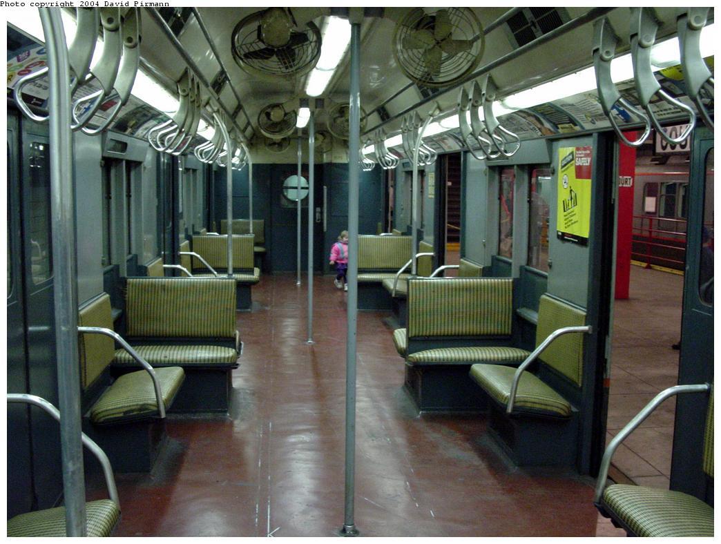 (140k, 1044x788)<br><b>Country:</b> United States<br><b>City:</b> New York<br><b>System:</b> New York City Transit<br><b>Location:</b> New York Transit Museum<br><b>Car:</b> R-7A (Pullman, 1938) 1575 <br><b>Photo by:</b> David Pirmann<br><b>Date:</b> 3/12/2000<br><b>Notes:</b> R10 prototype, interior<br><b>Viewed (this week/total):</b> 24 / 20246