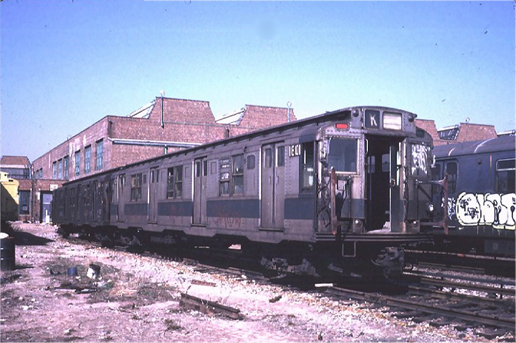 (184k, 1024x682)<br><b>Country:</b> United States<br><b>City:</b> New York<br><b>System:</b> New York City Transit<br><b>Location:</b> Coney Island Yard-Museum Yard<br><b>Car:</b> R-9 (Pressed Steel, 1940) 1801 <br><b>Photo by:</b> Steve Zabel<br><b>Collection of:</b> Joe Testagrose<br><b>Date:</b> 3/20/1974<br><b>Viewed (this week/total):</b> 3 / 8701