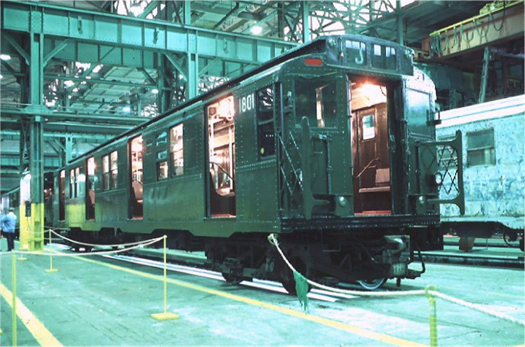 (189k, 1024x678)<br><b>Country:</b> United States<br><b>City:</b> New York<br><b>System:</b> New York City Transit<br><b>Location:</b> Coney Island Shop/Overhaul & Repair Shop<br><b>Car:</b> R-9 (Pressed Steel, 1940) 1801 <br><b>Photo by:</b> Doug Grotjahn<br><b>Collection of:</b> Joe Testagrose<br><b>Date:</b> 10/13/1979<br><b>Viewed (this week/total):</b> 3 / 8105