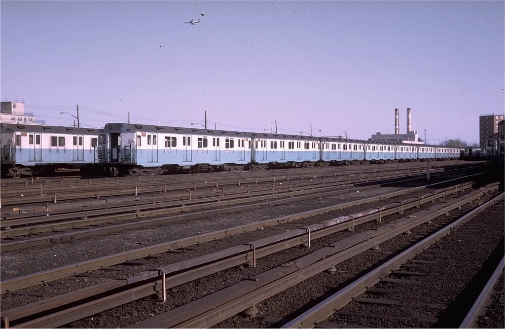 (205k, 1024x667)<br><b>Country:</b> United States<br><b>City:</b> New York<br><b>System:</b> New York City Transit<br><b>Location:</b> Pitkin Yard/Shops<br><b>Car:</b> R-10 (American Car & Foundry, 1948) 3237 <br><b>Photo by:</b> Steve Zabel<br><b>Collection of:</b> Joe Testagrose<br><b>Date:</b> 4/13/1969<br><b>Viewed (this week/total):</b> 1 / 7718