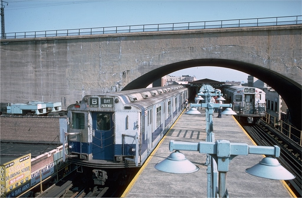 (236k, 1024x673)<br><b>Country:</b> United States<br><b>City:</b> New York<br><b>System:</b> New York City Transit<br><b>Line:</b> BMT Astoria Line<br><b>Location:</b> Ditmars Boulevard<br><b>Route:</b> Fan Trip<br><b>Car:</b> R-10 (American Car & Foundry, 1948) 3298 <br><b>Photo by:</b> Doug Grotjahn<br><b>Collection of:</b> Joe Testagrose<br><b>Date:</b> 10/23/1976<br><b>Viewed (this week/total):</b> 0 / 8049