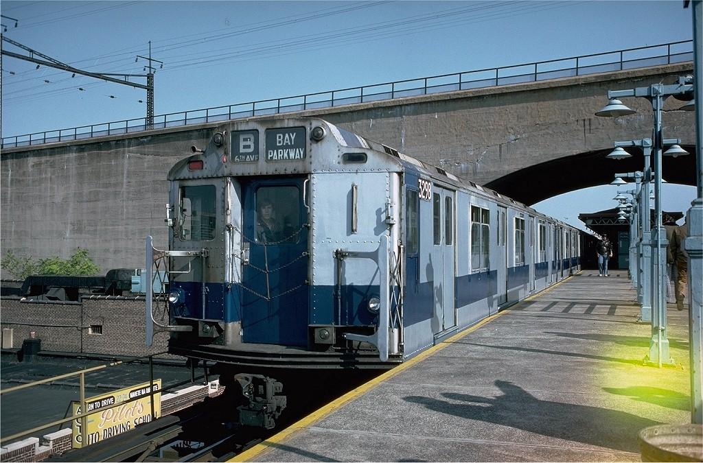 (252k, 1024x675)<br><b>Country:</b> United States<br><b>City:</b> New York<br><b>System:</b> New York City Transit<br><b>Line:</b> BMT Astoria Line<br><b>Location:</b> Ditmars Boulevard<br><b>Route:</b> Fan Trip<br><b>Car:</b> R-10 (American Car & Foundry, 1948) 3298 <br><b>Photo by:</b> Doug Grotjahn<br><b>Collection of:</b> Joe Testagrose<br><b>Date:</b> 10/23/1976<br><b>Viewed (this week/total):</b> 1 / 5485