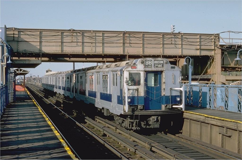 (221k, 1024x676)<br><b>Country:</b> United States<br><b>City:</b> New York<br><b>System:</b> New York City Transit<br><b>Line:</b> BMT Canarsie Line<br><b>Location:</b> Livonia Avenue<br><b>Route:</b> Fan Trip<br><b>Car:</b> R-10 (American Car & Foundry, 1948) 3298 <br><b>Photo by:</b> Doug Grotjahn<br><b>Collection of:</b> Joe Testagrose<br><b>Date:</b> 10/23/1976<br><b>Viewed (this week/total):</b> 0 / 5127