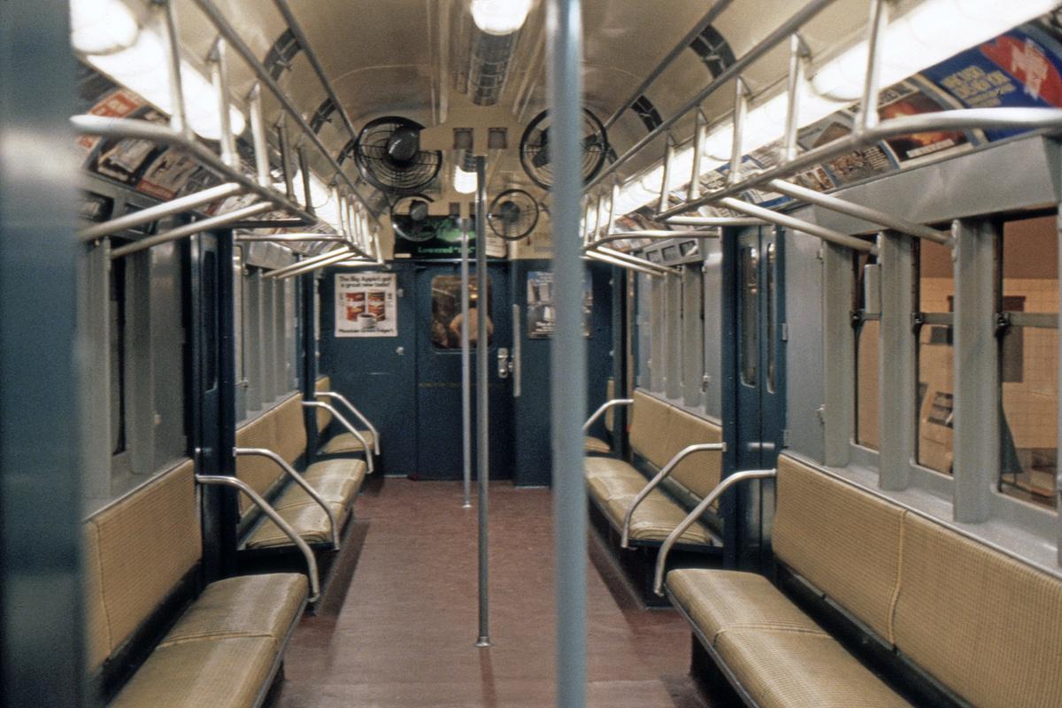 (539k, 1200x800)<br><b>Country:</b> United States<br><b>City:</b> New York<br><b>System:</b> New York City Transit<br><b>Location:</b> New York Transit Museum<br><b>Car:</b> R-12 (American Car & Foundry, 1948) 5760 <br><b>Photo by:</b> Steve Hoskins<br><b>Collection of:</b> David Pirmann<br><b>Date:</b> 8/1979<br><b>Viewed (this week/total):</b> 13 / 19599