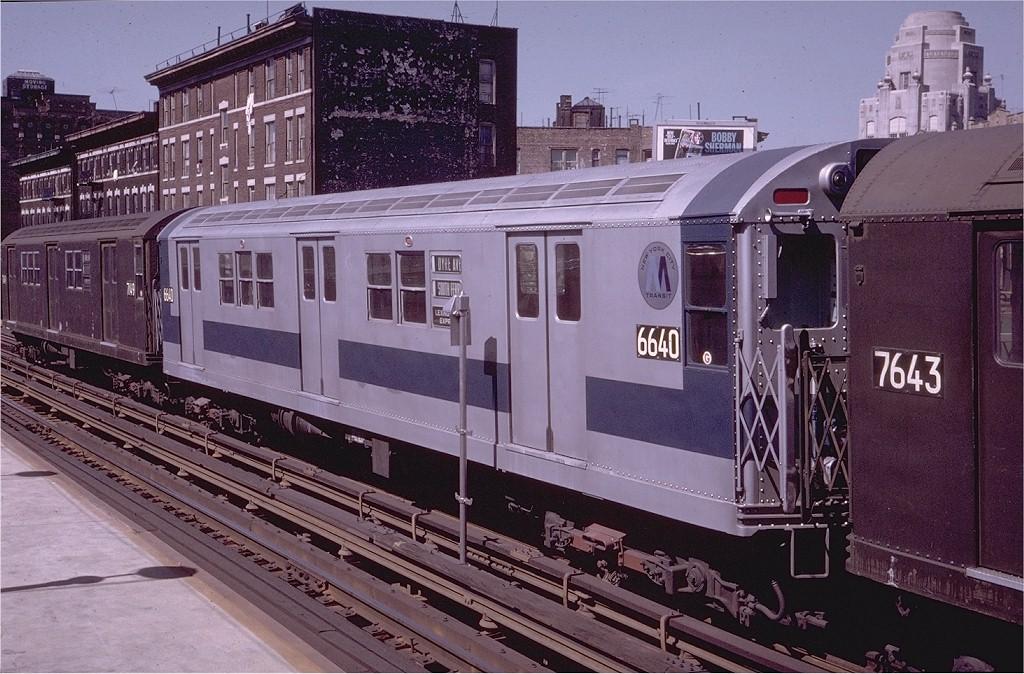 (229k, 1024x674)<br><b>Country:</b> United States<br><b>City:</b> New York<br><b>System:</b> New York City Transit<br><b>Line:</b> IRT White Plains Road Line<br><b>Location:</b> 174th Street<br><b>Route:</b> 5<br><b>Car:</b> R-17 (St. Louis, 1955-56) 6640 <br><b>Photo by:</b> Steve Zabel<br><b>Collection of:</b> Joe Testagrose<br><b>Date:</b> 6/1970<br><b>Viewed (this week/total):</b> 3 / 2900