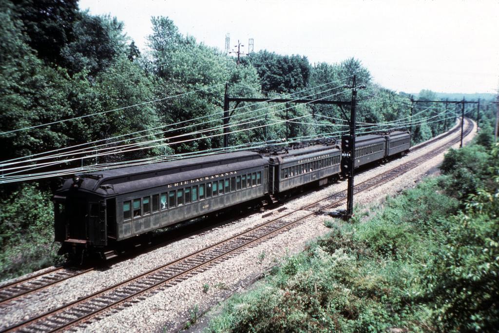 (511k, 1024x683)<br><b>Country:</b> United States<br><b>System:</b> NJ Transit (or Predecessor)<br><b>Line:</b> NJT Morris & Essex Line<br><b>Location:</b> Chatham<br><b>Car:</b> Erie-Lackawanna EMU 4337 <br><b>Photo by:</b> Steve Zabel<br><b>Collection of:</b> David Pirmann<br><b>Date:</b> 6/27/1977<br><b>Viewed (this week/total):</b> 2 / 3420