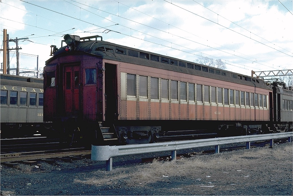 (291k, 1024x687)<br><b>Country:</b> United States<br><b>System:</b> NJ Transit (or Predecessor)<br><b>Line:</b> NJT Morris & Essex Line<br><b>Location:</b> Gladstone<br><b>Car:</b> Erie-Lackawanna EMU 4322 <br><b>Photo by:</b> Steve Zabel<br><b>Collection of:</b> Joe Testagrose<br><b>Date:</b> 11/29/1981<br><b>Viewed (this week/total):</b> 0 / 2841