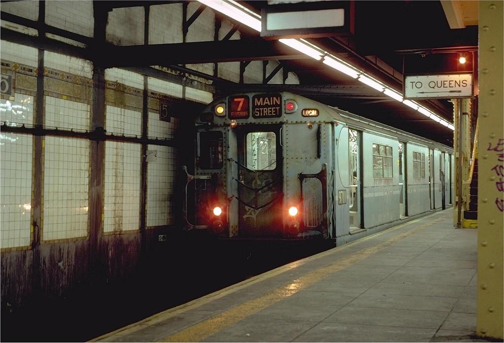 (190k, 1024x698)<br><b>Country:</b> United States<br><b>City:</b> New York<br><b>System:</b> New York City Transit<br><b>Line:</b> IRT Flushing Line<br><b>Location:</b> 5th Avenue<br><b>Route:</b> 7<br><b>Car:</b> R-36 World's Fair (St. Louis, 1963-64) 9711 <br><b>Photo by:</b> Neil Axelrod<br><b>Collection of:</b> Joe Testagrose<br><b>Date:</b> 10/17/1981<br><b>Viewed (this week/total):</b> 1 / 7034