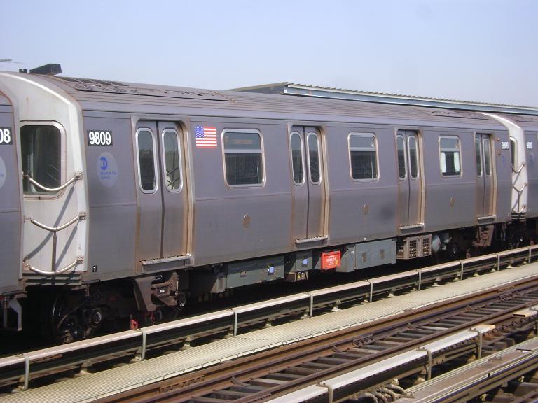 (92k, 768x576)<br><b>Country:</b> United States<br><b>City:</b> New York<br><b>System:</b> New York City Transit<br><b>Line:</b> BMT Culver Line<br><b>Location:</b> Avenue P<br><b>Route:</b> F<br><b>Car:</b> R-160B (Option 2) (Kawasaki, 2009) 9809 <br><b>Photo by:</b> John Dooley<br><b>Date:</b> 4/8/2010<br><b>Viewed (this week/total):</b> 4 / 1132