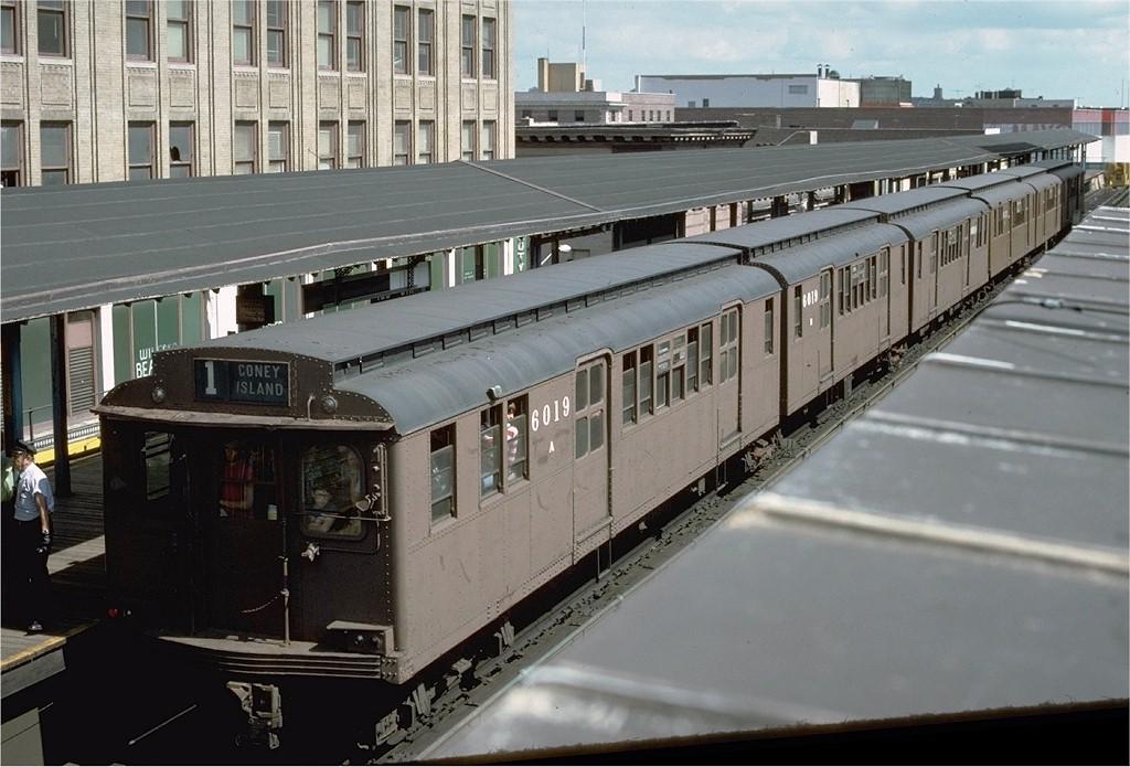 (189k, 1024x695)<br><b>Country:</b> United States<br><b>City:</b> New York<br><b>System:</b> New York City Transit<br><b>Line:</b> BMT Nassau Street-Jamaica Line<br><b>Location:</b> 168th Street (Demolished)<br><b>Route:</b> Fan Trip<br><b>Car:</b> BMT D-Type Triplex 6019 <br><b>Photo by:</b> Joe Testagrose<br><b>Date:</b> 9/11/1977<br><b>Viewed (this week/total):</b> 9 / 7470