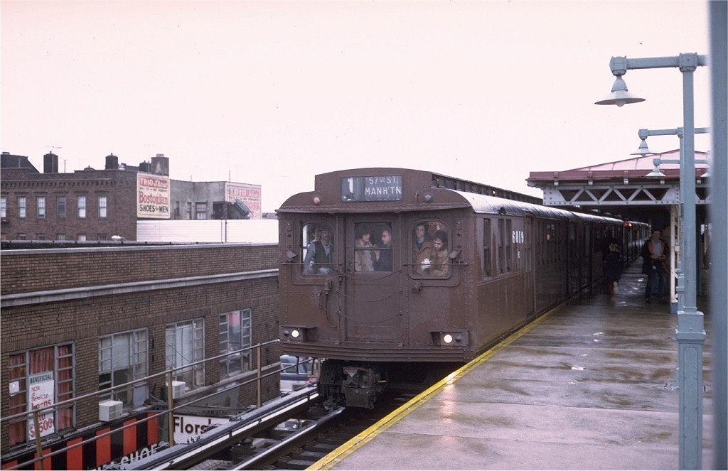 (150k, 1024x663)<br><b>Country:</b> United States<br><b>City:</b> New York<br><b>System:</b> New York City Transit<br><b>Line:</b> BMT West End Line<br><b>Location:</b> Bay Parkway<br><b>Route:</b> Fan Trip<br><b>Car:</b> BMT D-Type Triplex 6019 <br><b>Photo by:</b> Steve Zabel<br><b>Collection of:</b> Joe Testagrose<br><b>Date:</b> 12/9/1973<br><b>Viewed (this week/total):</b> 0 / 5278