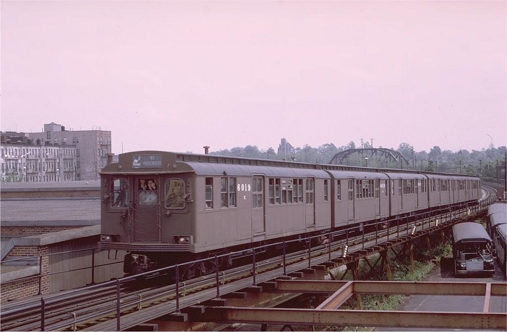 (160k, 1024x671)<br><b>Country:</b> United States<br><b>City:</b> New York<br><b>System:</b> New York City Transit<br><b>Line:</b> BMT Myrtle Avenue Line<br><b>Location:</b> Fresh Pond Road<br><b>Route:</b> Fan Trip<br><b>Car:</b> BMT D-Type Triplex 6019 <br><b>Photo by:</b> Joe Testagrose<br><b>Date:</b> 5/18/1975<br><b>Viewed (this week/total):</b> 0 / 4845
