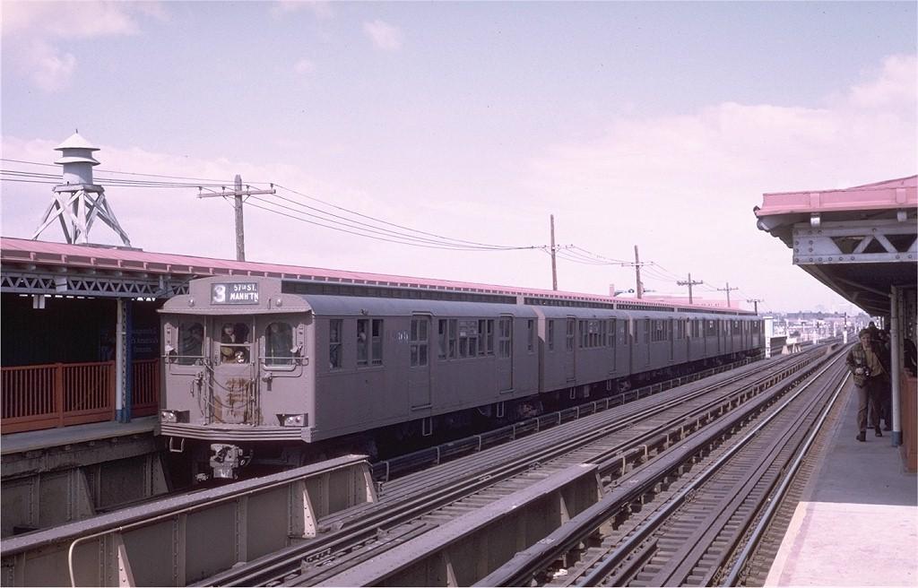 (170k, 1024x656)<br><b>Country:</b> United States<br><b>City:</b> New York<br><b>System:</b> New York City Transit<br><b>Line:</b> BMT West End Line<br><b>Location:</b> Bay 50th Street<br><b>Route:</b> Fan Trip<br><b>Car:</b> BMT D-Type Triplex 6095 <br><b>Photo by:</b> Steve Zabel<br><b>Collection of:</b> Joe Testagrose<br><b>Date:</b> 3/23/1974<br><b>Viewed (this week/total):</b> 0 / 3624