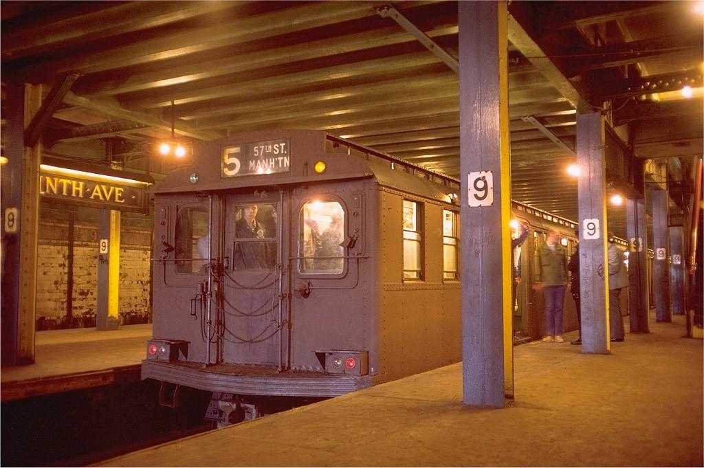 (213k, 1024x681)<br><b>Country:</b> United States<br><b>City:</b> New York<br><b>System:</b> New York City Transit<br><b>Line:</b> BMT Culver Line<br><b>Location:</b> 9th Avenue (Lower Level)<br><b>Route:</b> Fan Trip<br><b>Car:</b> BMT D-Type Triplex 6095 <br><b>Photo by:</b> Doug Grotjahn<br><b>Collection of:</b> Joe Testagrose<br><b>Date:</b> 5/18/1975<br><b>Viewed (this week/total):</b> 0 / 10690