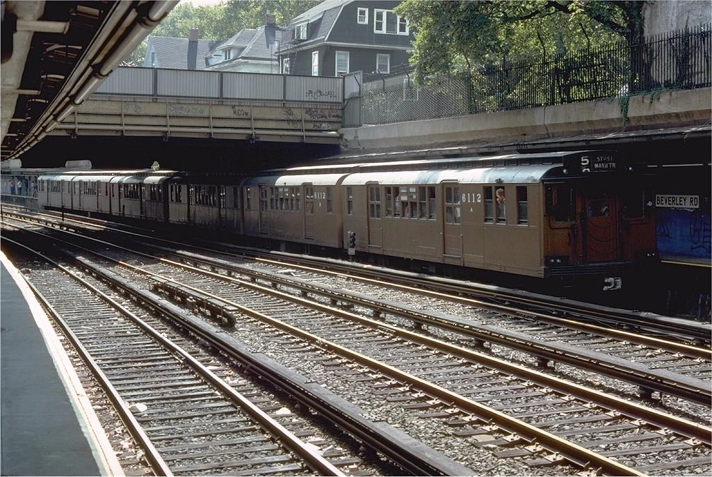 (291k, 1024x686)<br><b>Country:</b> United States<br><b>City:</b> New York<br><b>System:</b> New York City Transit<br><b>Line:</b> BMT Brighton Line<br><b>Location:</b> Beverley Road<br><b>Route:</b> Fan Trip<br><b>Car:</b> BMT D-Type Triplex 6112 <br><b>Photo by:</b> Doug Grotjahn<br><b>Collection of:</b> Joe Testagrose<br><b>Date:</b> 9/11/1977<br><b>Viewed (this week/total):</b> 1 / 4062