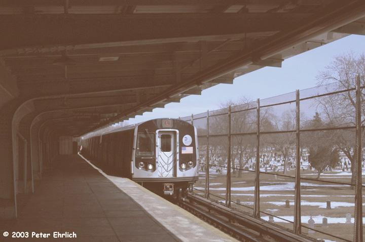 (110k, 720x478)<br><b>Country:</b> United States<br><b>City:</b> New York<br><b>System:</b> New York City Transit<br><b>Line:</b> BMT Canarsie Line<br><b>Location:</b> Wilson Avenue<br><b>Route:</b> L<br><b>Car:</b> R-143 (Kawasaki, 2001-2002) 8141 <br><b>Photo by:</b> Peter Ehrlich<br><b>Date:</b> 3/4/2003<br><b>Viewed (this week/total):</b> 1 / 6718