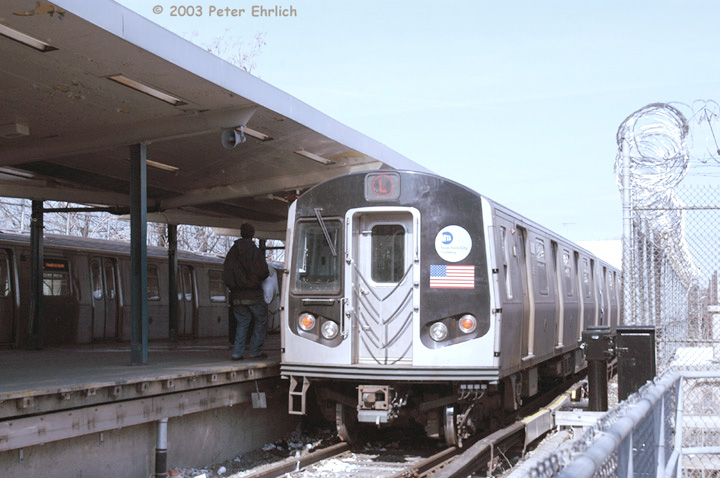 (131k, 720x478)<br><b>Country:</b> United States<br><b>City:</b> New York<br><b>System:</b> New York City Transit<br><b>Line:</b> BMT Canarsie Line<br><b>Location:</b> Rockaway Parkway<br><b>Route:</b> L<br><b>Car:</b> R-143 (Kawasaki, 2001-2002) 8240 <br><b>Photo by:</b> Peter Ehrlich<br><b>Date:</b> 3/4/2003<br><b>Viewed (this week/total):</b> 0 / 5324