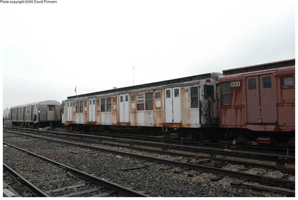 (170k, 1044x701)<br><b>Country:</b> United States<br><b>City:</b> New York<br><b>System:</b> New York City Transit<br><b>Location:</b> Coney Island Yard-Museum Yard<br><b>Car:</b> R-1 (American Car & Foundry, 1930-1931) 103 <br><b>Photo by:</b> David Pirmann<br><b>Date:</b> 4/5/2003<br><b>Viewed (this week/total):</b> 6 / 12524