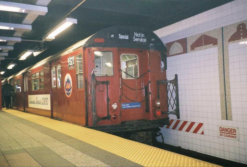 (65k, 800x540)<br><b>Country:</b> United States<br><b>City:</b> New York<br><b>System:</b> New York City Transit<br><b>Line:</b> IRT Times Square-Grand Central Shuttle<br><b>Location:</b> Grand Central<br><b>Route:</b> Fan Trip<br><b>Car:</b> R-33 World's Fair (St. Louis, 1963-64) 9327 <br><b>Photo by:</b> Gary Chatterton<br><b>Date:</b> 5/1/2005<br><b>Viewed (this week/total):</b> 1 / 4331