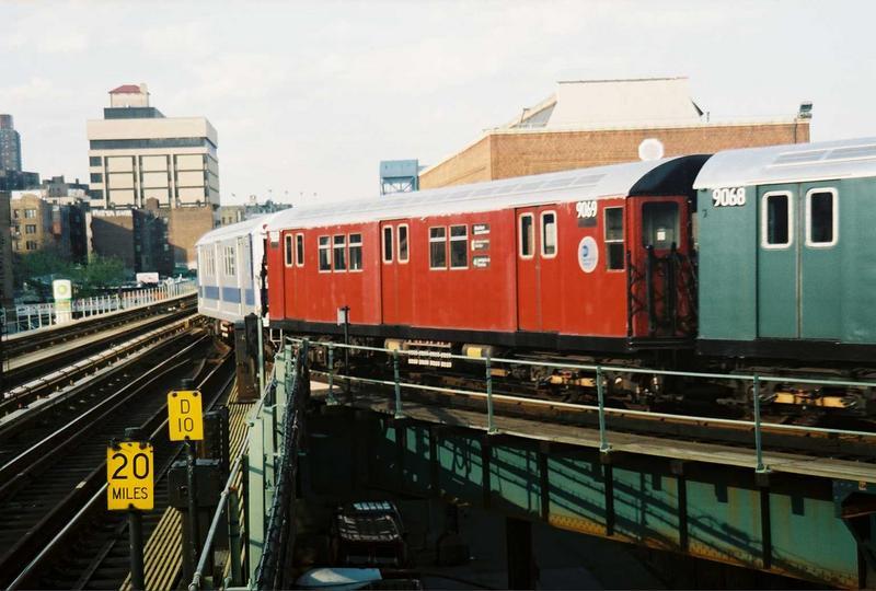 (67k, 800x540)<br><b>Country:</b> United States<br><b>City:</b> New York<br><b>System:</b> New York City Transit<br><b>Location:</b> 207th Street Yard<br><b>Route:</b> Fan Trip<br><b>Car:</b> R-33 Main Line (St. Louis, 1962-63) 9069 <br><b>Photo by:</b> Gary Chatterton<br><b>Date:</b> 5/1/2005<br><b>Viewed (this week/total):</b> 1 / 3012