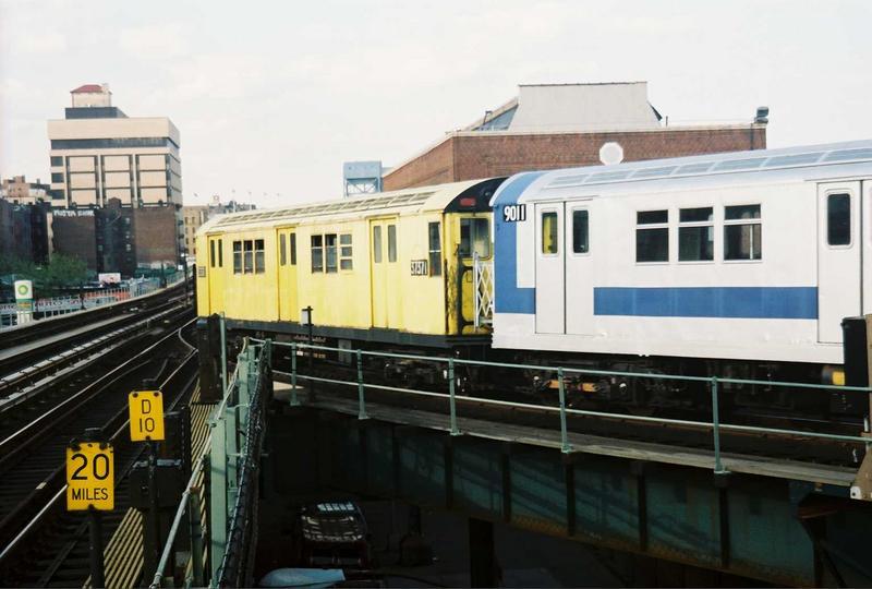(59k, 800x540)<br><b>Country:</b> United States<br><b>City:</b> New York<br><b>System:</b> New York City Transit<br><b>Location:</b> 207th Street Yard<br><b>Route:</b> Fan Trip<br><b>Car:</b> R-22 (St. Louis, 1957-58) 37371 <br><b>Photo by:</b> Gary Chatterton<br><b>Date:</b> 5/1/2005<br><b>Viewed (this week/total):</b> 0 / 2791