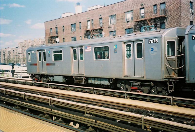 (90k, 800x540)<br><b>Country:</b> United States<br><b>City:</b> New York<br><b>System:</b> New York City Transit<br><b>Line:</b> IRT Woodlawn Line<br><b>Location:</b> 161st Street-River Avenue (Yankee Stadium)<br><b>Route:</b> 4<br><b>Car:</b> R-142 (Option Order, Bombardier, 2002-2003) 7076 <br><b>Photo by:</b> Gary Chatterton<br><b>Date:</b> 5/1/2005<br><b>Viewed (this week/total):</b> 1 / 4427